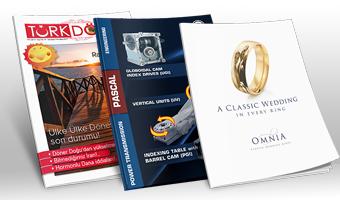 Dergi katalog brosur tasarımı